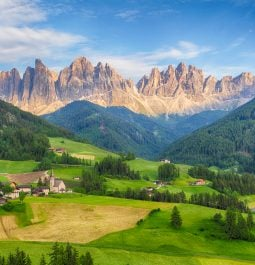 Breathtaking view of the Dolomites from Val di Funes