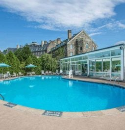 Outdoor pool at the lodge