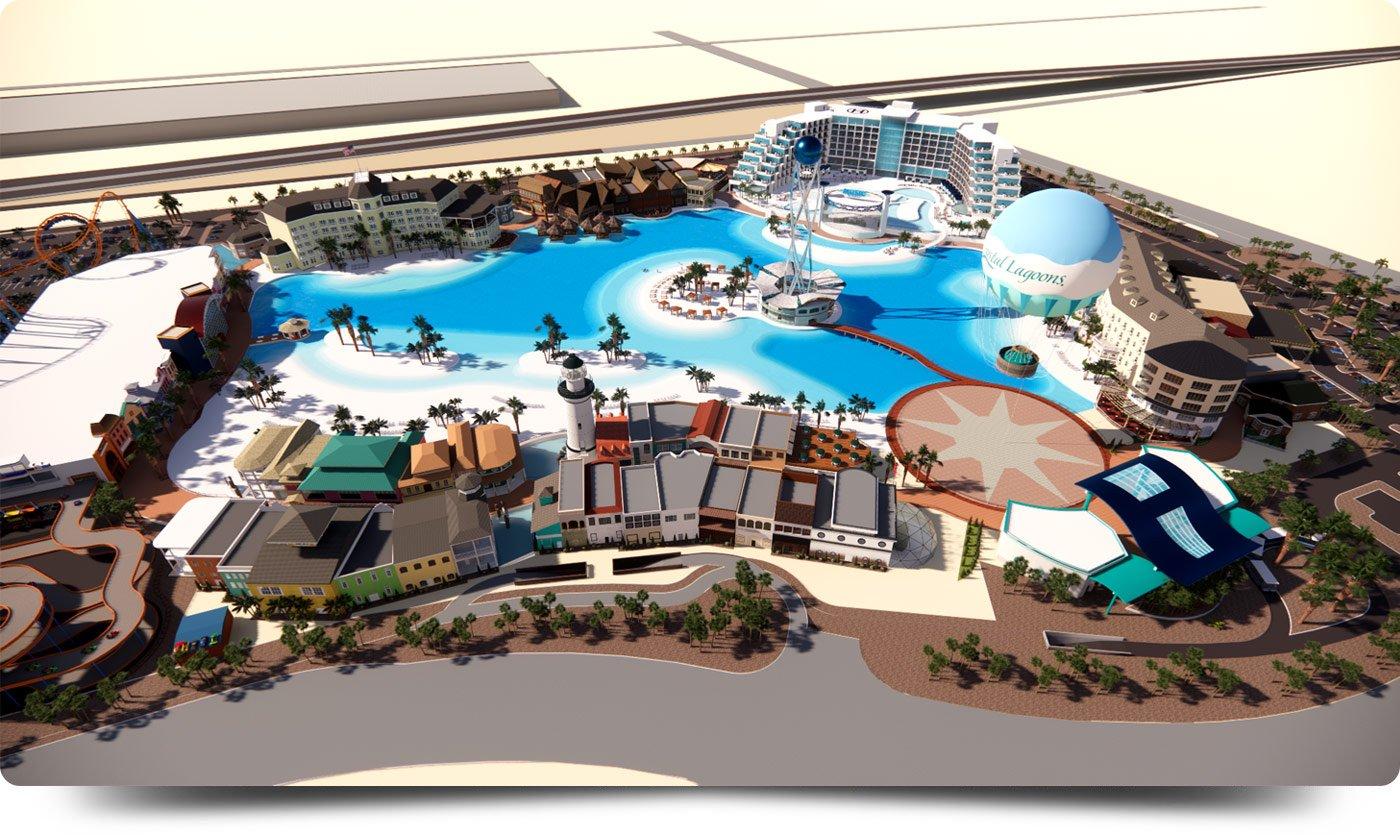 Artist rendering of the Crystal Lagoons Island Resort coming to Glendale, Arizona