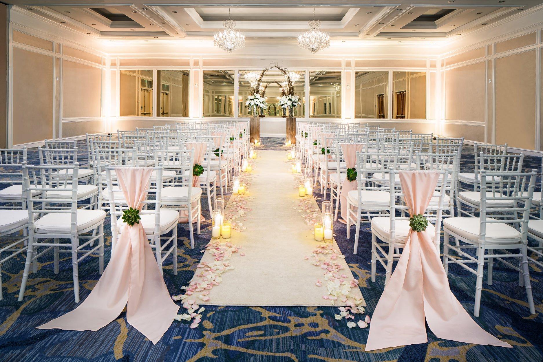Setup for wedding venue at resort