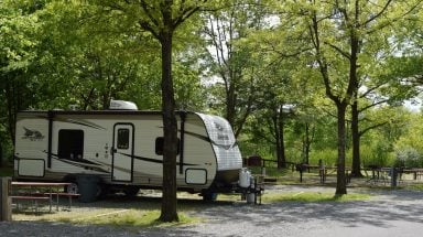 camping site at Cherry Hill Park