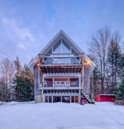 Wintertime at the Classic Stowe Ski Chalet