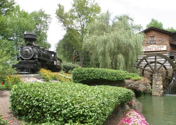 View of exterior of the Grist Mill at Dollywood