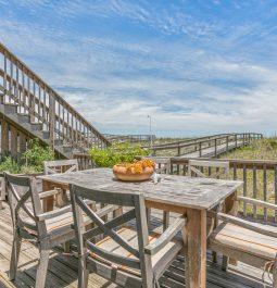 oceanfront deck with beach views