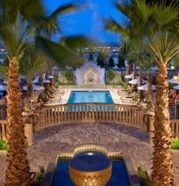outdoor pool area at Hotel Encanto
