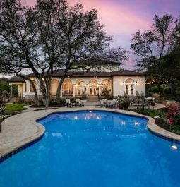 pool from house backyard