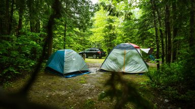 Tents in the campground