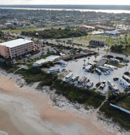 aerial view of Coral Sands RV Resort