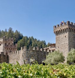 view of a castle in Calistoga